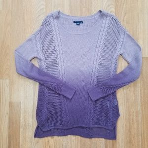 American Eagle | Purple Ombre  Dyed Sweater |  XS